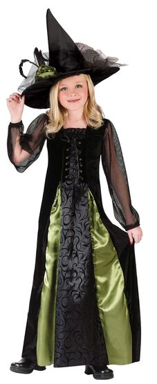 Kids Maiden Gothic Witch Costume