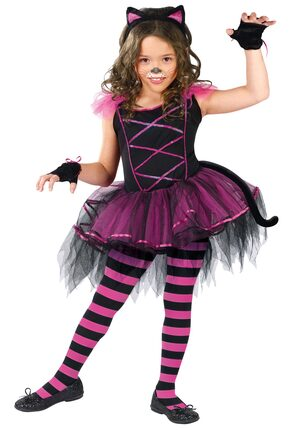 Girls Catarina Kids Cat Costume