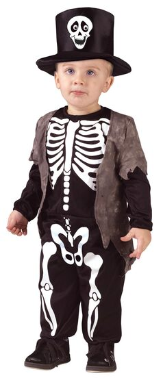 Kids Happy Skeleton Toddler Costume