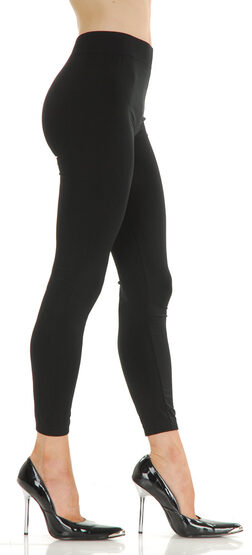 Solid Nylon Plus Size Legging