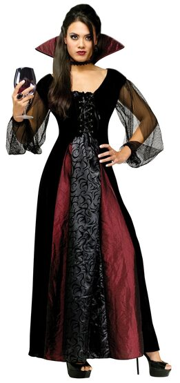 Womens Adult Maiden Gothic Vampire Costume
