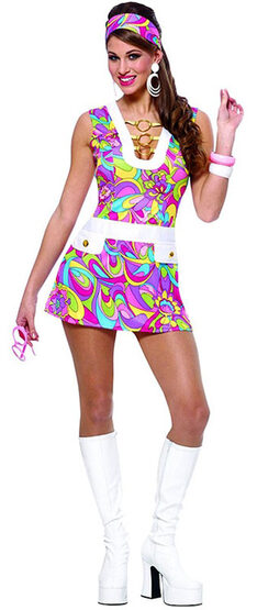 Sexy Groovy Chic Hippie Costume