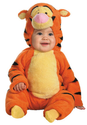 Tigger Two-Sided Plush Jumpsuit Baby Costume