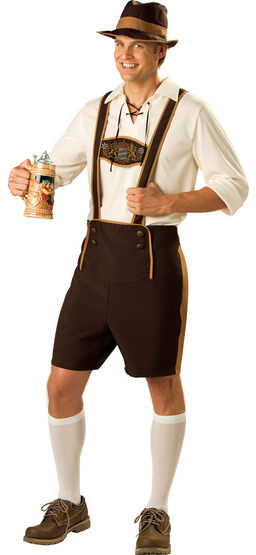 Bavarian Guy Adult Lederhosen Costume