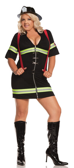 Womens Blazin Hot Firefighter Plus Size Costume