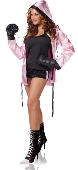Womens Boxing Knockout Sexy Costume