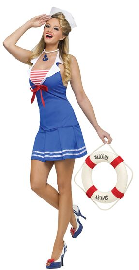 Anchors Away Sexy Sailor Girl Costume