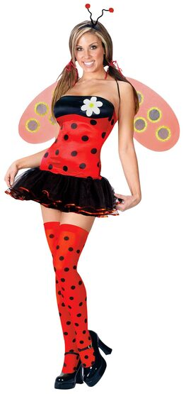 Womens Adult Leggy Ladybug Costume