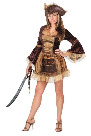 Womens Sassy Victorian Sexy Pirate Costume
