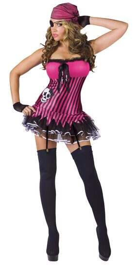 Womens Rockin Skull Sexy Pirate Costume