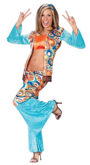 Womens Adult 60s Chic Hippie Costume