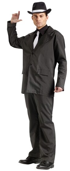 Mens Adult Gangster Costume