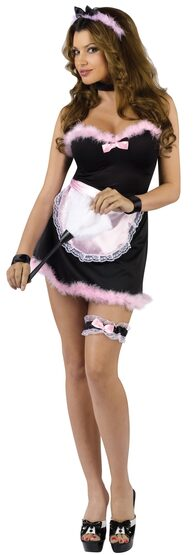 Sexy Pink French Maid Costume