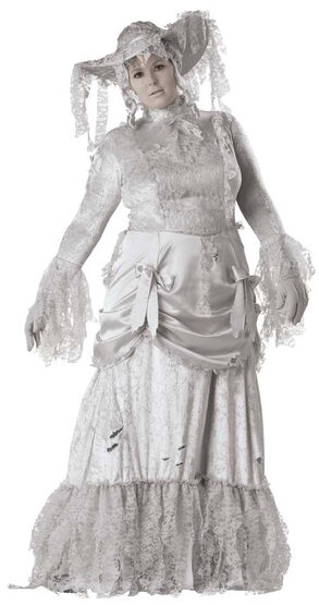 Womens Ghostly Lady Plus Size Costume