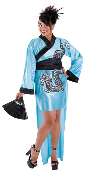 Dragon Geisha Plus Size Costume