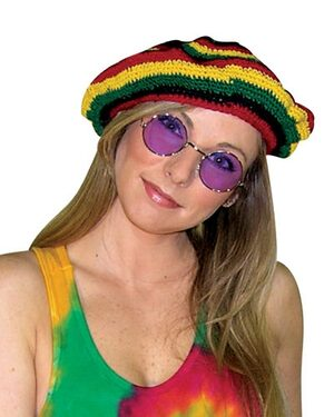 Adult Hippie Rasta Tam