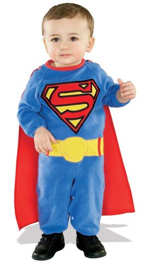 Superman E-Z on Baby Costume
