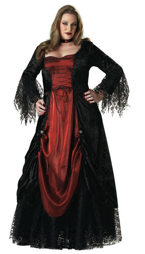 Womens Gothic Plus Size Vampire Costume