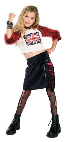 Union Jack Diva Gothic Kids Costume