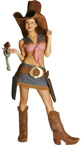 Sexy Texy Funny Western Cowgirl Costume