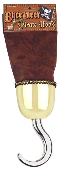 Suede Buccaneer Gold Pirate Hook