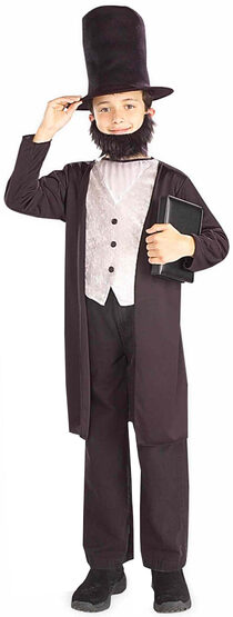 Boys Abe Lincoln Historical Kids Costume