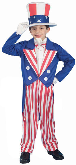 Young Uncle Sam Patriotic Kids Costume