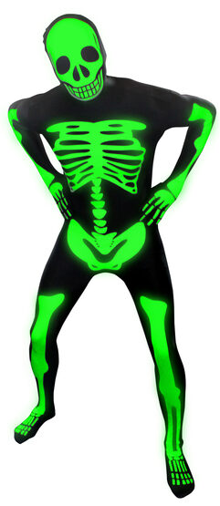 Glow in the Dark Skeleton Morphsuit Adult Costume