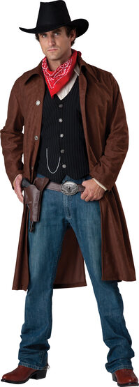 Mens Gritty Gunslinger Cowboy Adult Costume