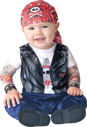 Born to be Wild Biker Baby Costume
