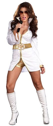 Sexy Queen of Rock Female Elvis Costume