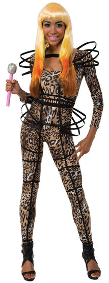 Nicki Manaj Catsuit Rockstar Adult Costume