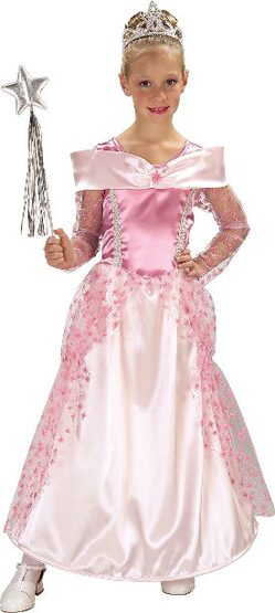 Pretty Pink Star Princess Kids Costume