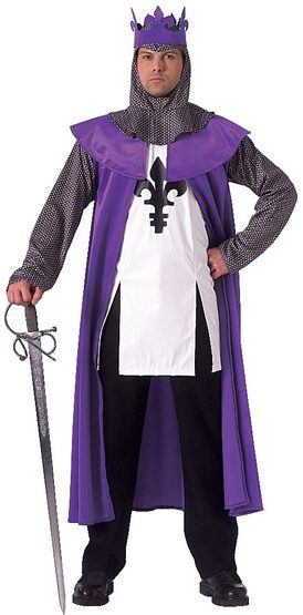 Purple Renaissance King Adult Costume