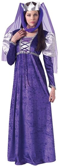 Purple Renaissance Queen Adult Costume