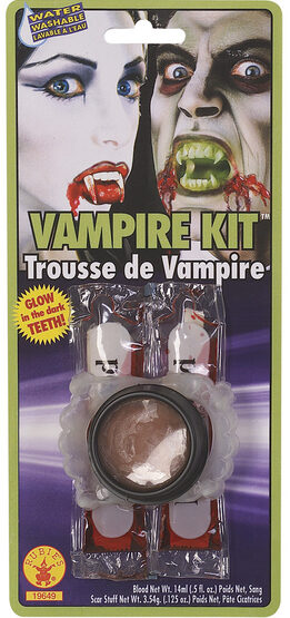 Vampire Makeup Kit with Fangs