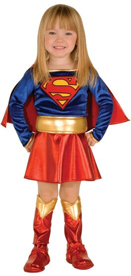 Sweet Little Supergirl Kids Costume