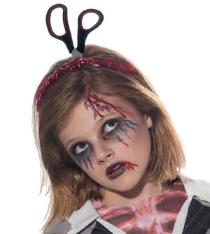 Zombie Headband with Scissors