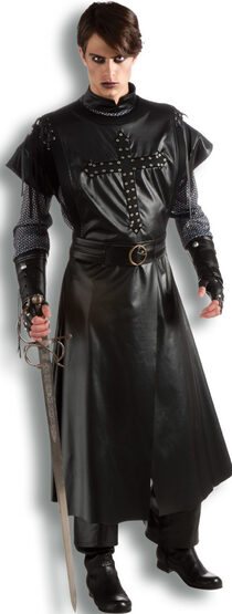 Mens Gothic Dark Crusader Adult Costume