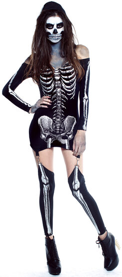 Sexy Xrayed Skeleton Costume
