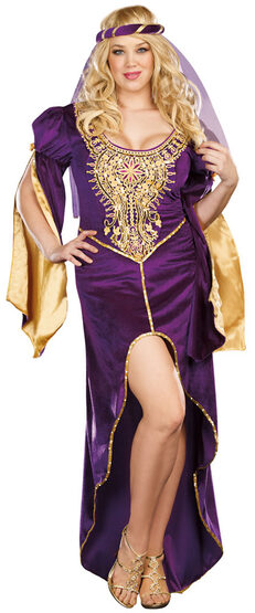 Medieval Queen of Thrones Plus Size Costume