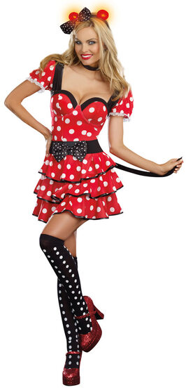 Sexy Miss Minnie Mouse Light Up Costume - Mr. Costumes