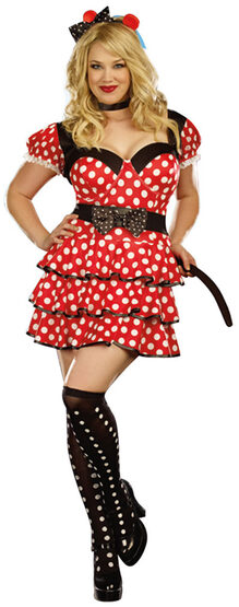 Light Up Miss Minnie Mouse Plus Size Costume - Mr. Costumes
