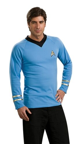 Star Trek Deluxe Blue Adult Shirt