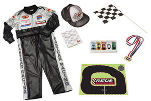 champion race car driver kids costume