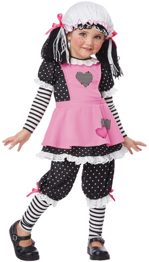 Pink Rag Dolly Kids Costume