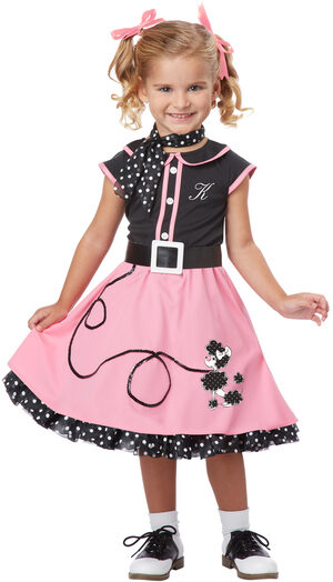 50's Poodle Skirt Cutie Kids Costume