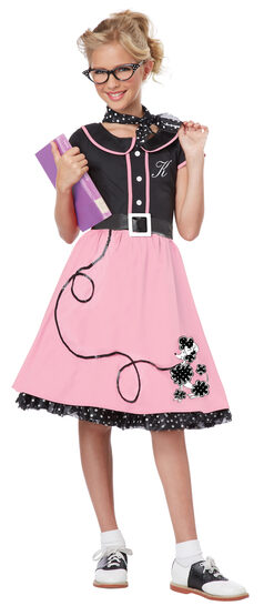 Sock Hop Sweetheart 50s Kids Costume