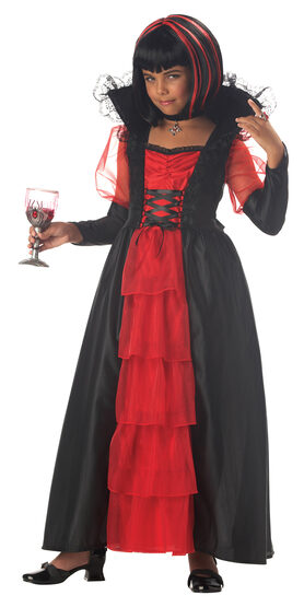 Vampiress of the Night Kids Costume