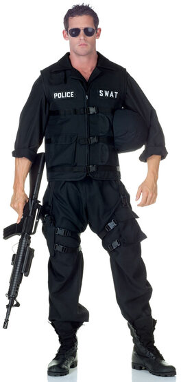 SWAT Police Jumpsuit Adult Costume